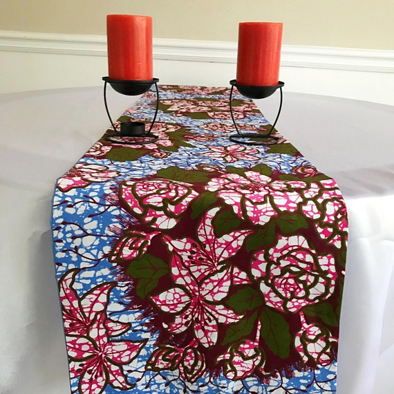 Calabash table runner Wax print table runner