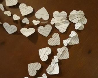 Heart Garland / Book Page Garland / Paper Garland