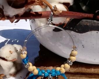 Dangle - hoop earrings