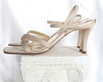 e6bc9ef90820b7 Vintage 90s Ann Marino Beige Heels    Size 7