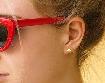 14k Yellow Gold Stud Earring