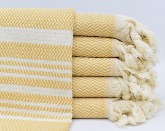 Kitchen Dish Towels Set of 5 Tea 16 x 28 Farm To Table Linen Cotton Country