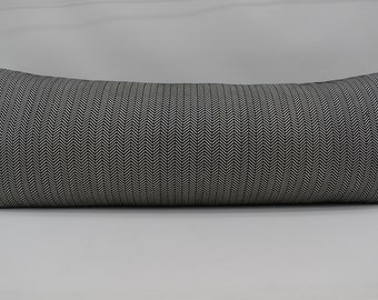 decorative body pillow cover gray 20x54