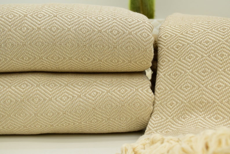 DIAMOND Throw Blanket Sofa Bed Spread Cover Turkish Cotton Double Size 210x240cm