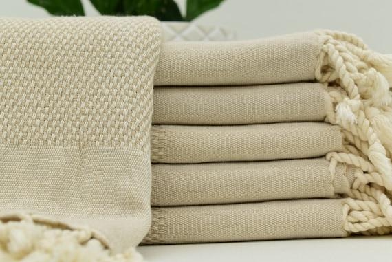 """24 """"x 46» à la main turque serviette serviette Beige plat serviette cuisine serviette torchon Owen voyage serviette cadeau serviette visage serviette cuisine Decor Bll-Cft-Peshkir"""