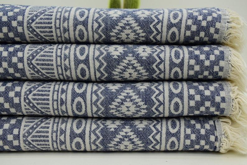 Kilim Peshtemal Turkish Kilim Design Turkish Peshtemal Navy Towel Tablecloth Geometric Towel HIGH QUALITY Tablecloth 40x70 Bll-Incmtf/_069