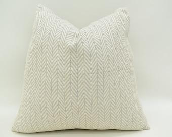 Organic Pillow Cover, Throw Pillow, Turkish Towel, Gray Pillow, Herringbone Pillow, Peshtemal Pillow, Pillow,Cotton Pillow MnAllSize-41