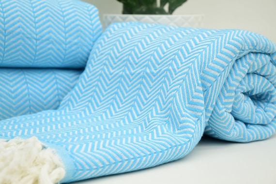Turkish Blanket Blanket Rug Beach Towel King Size Bed Etsy