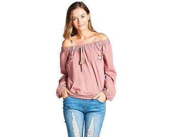 Dusty pink french pullover