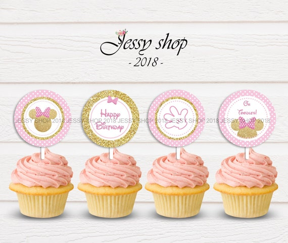 picture regarding Printable Cupcakes named Red and Gold Minnie Mouse cupcakes toppers; printable Minnie Red and Gold toppers,Minnie mouse cupcake toppers,printable cupcake toppers