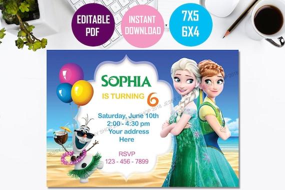 Frozen Invitation Instant Download Frozen Birthday Invitation Frozen Printable Invitation Frozen Elsa Invitation Frozen Summer Invitation