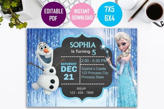 Frozen Invitation Instant Download Frozen Birthday Invitation Frozen Printable Invitation Frozen Elsa Invitation Instant Download Invites