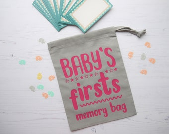 Baby's first memories bag