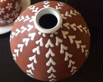 vintage Zeuthen Denmark ceramic vase
