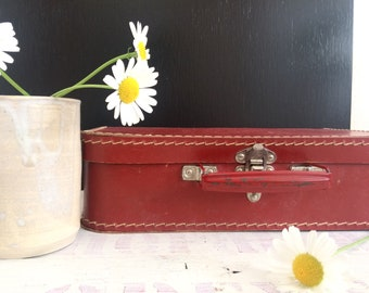 vintage french small suitcase for children, storage box