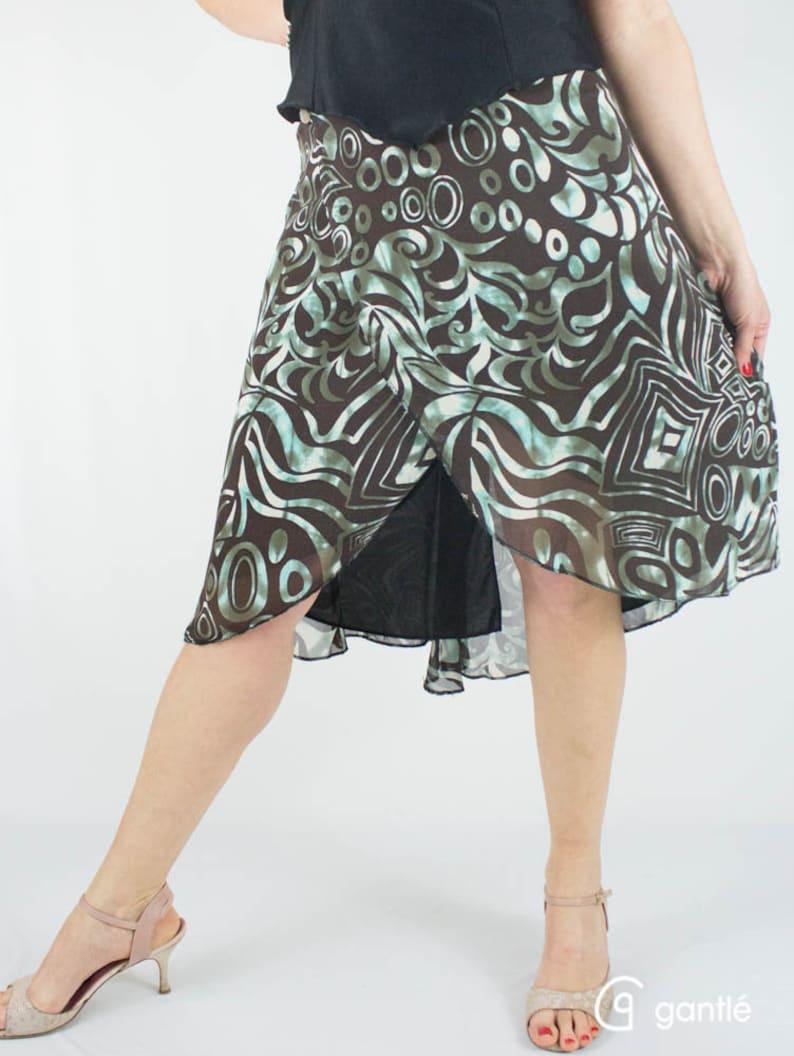 AVERNA Skirt for Argentine Tango Envelop shape 3 variations