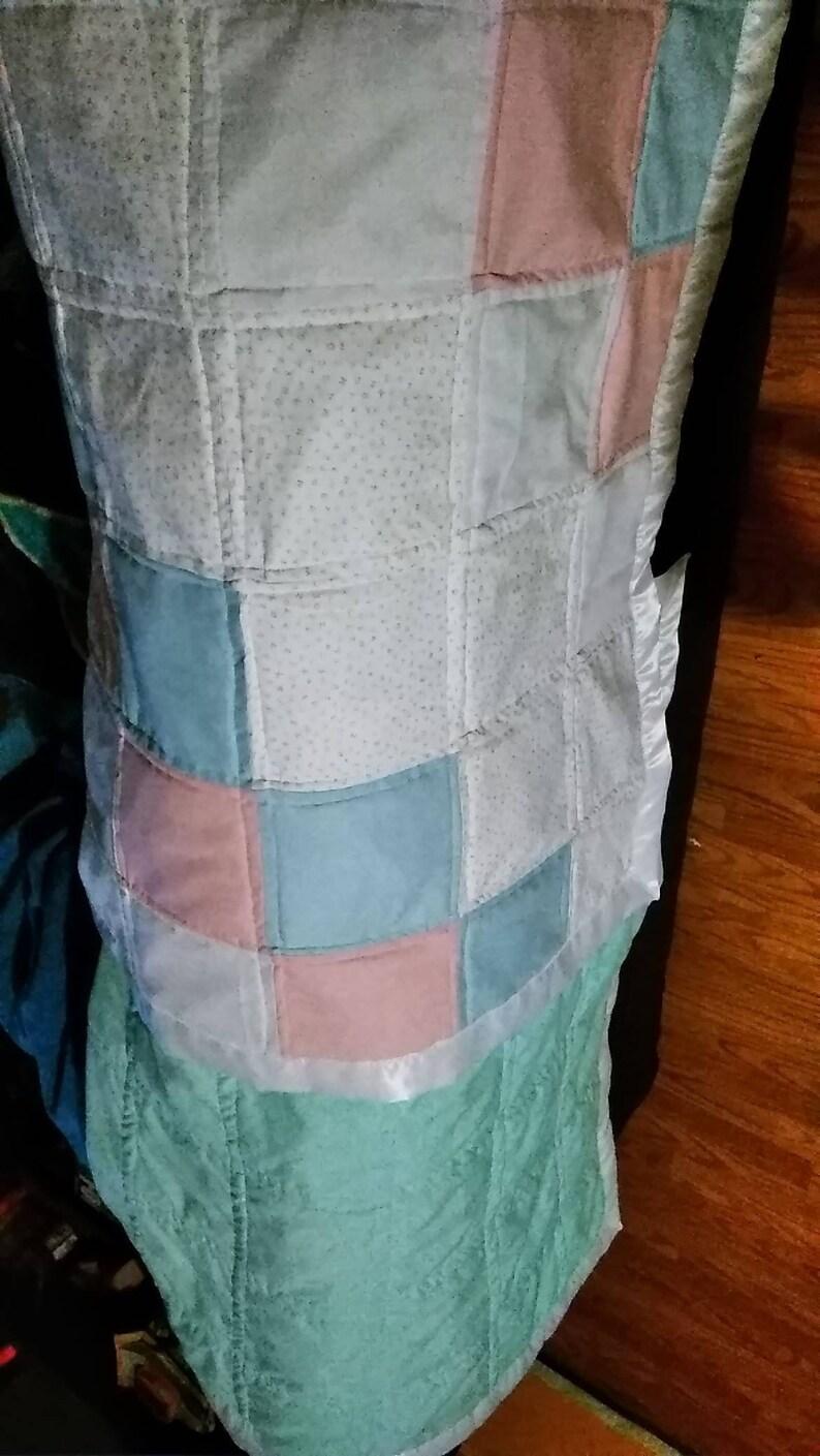 Gender neutral baby quilt homemade