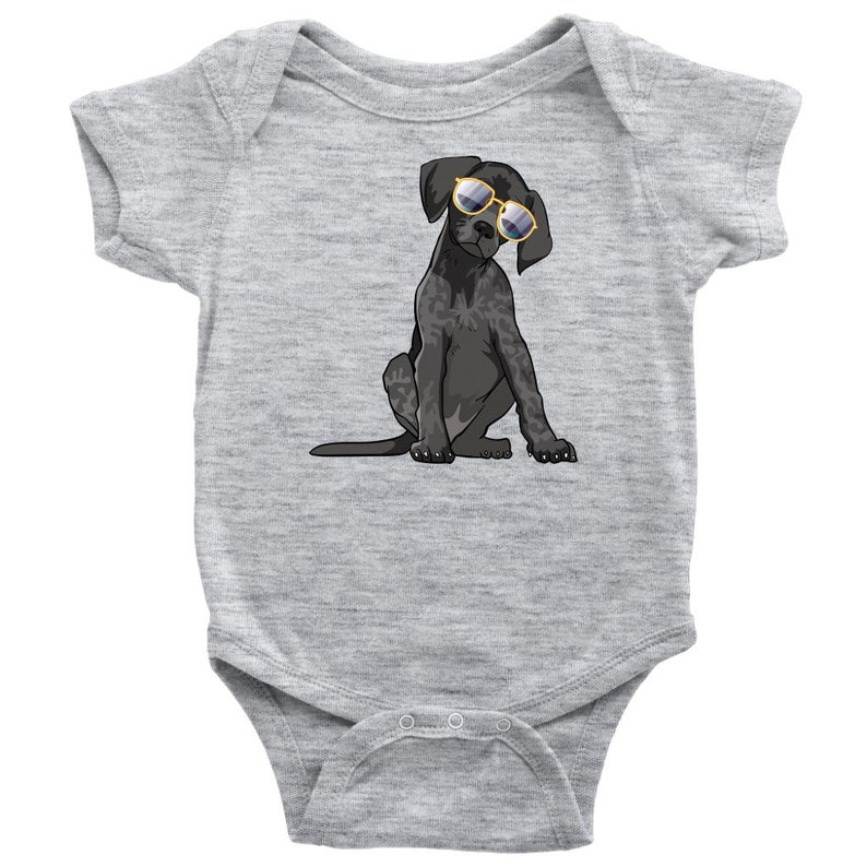 German Shorthaired Pointer Dog Baby Bodysuit Romper Baby Girl Baby Boy Gifts for Dog Lover Mom Dad