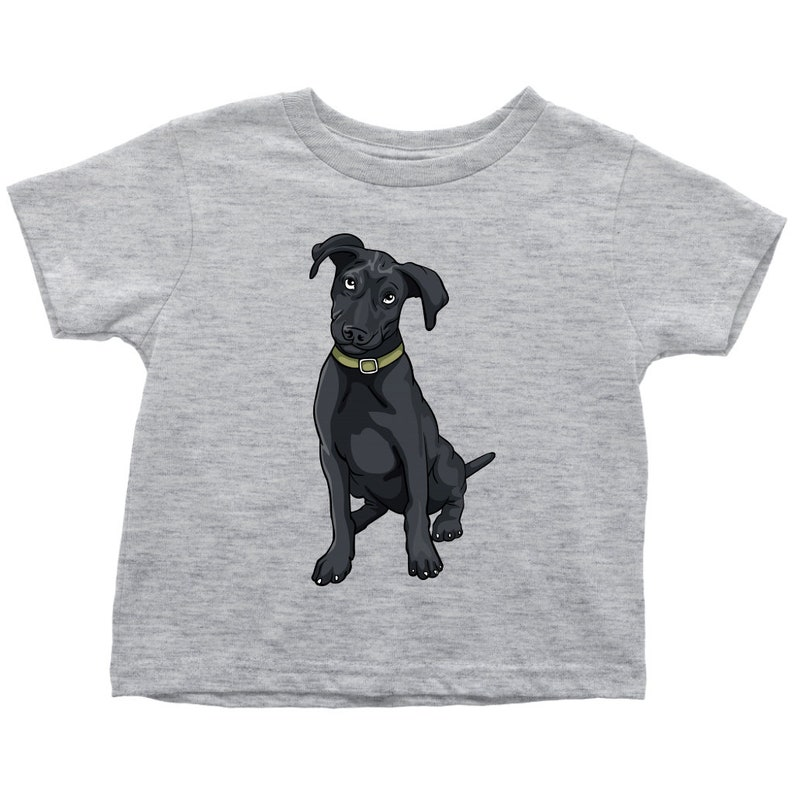 Funny Gift for Cute Dog Lovers Black Labrador Shirt for Toddlers