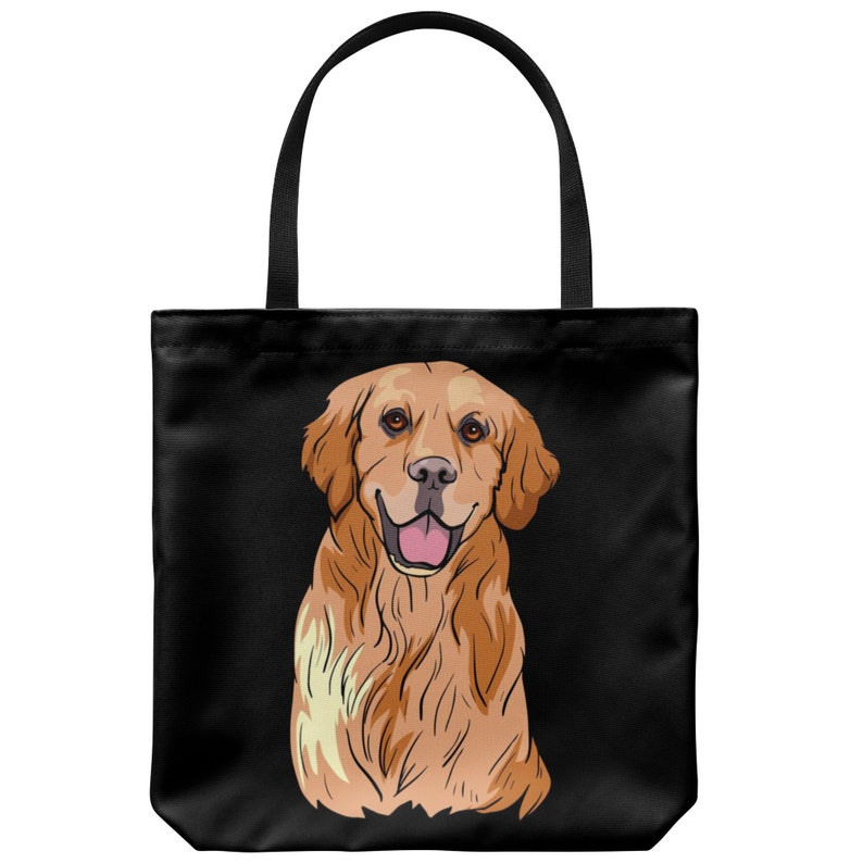 Golden Labrador Retriever Tote Bag Cute Gift for Dog Lovers
