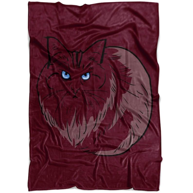 Birman Cat Fleece Throw Blanket Pet Animal Gifts for Cat Lover Mom Dad