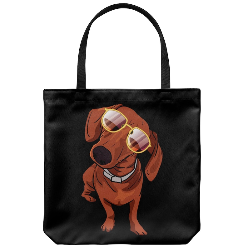 Cute Gift for Dog Lovers Dachshund Tote Bag