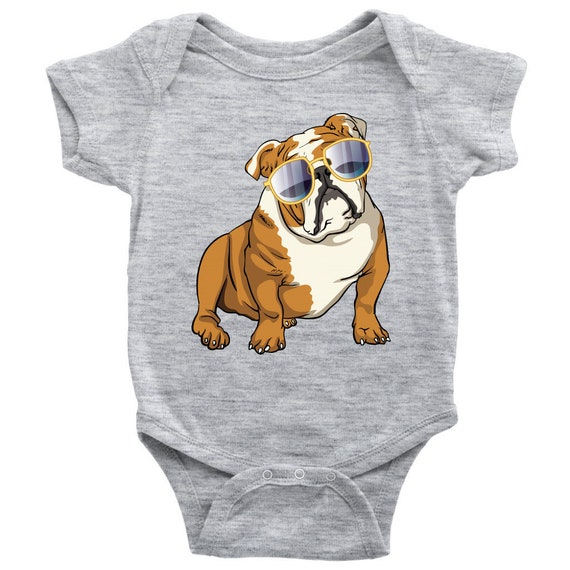 Bulldog Baby Romper Bodysuit Cute Gift For Cute Dog Lovers Etsy