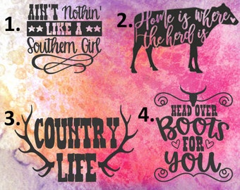 Country Southern Vinyl Decals
