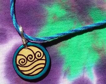 A:TLA Katara inspired OOAK pendant choker necklace
