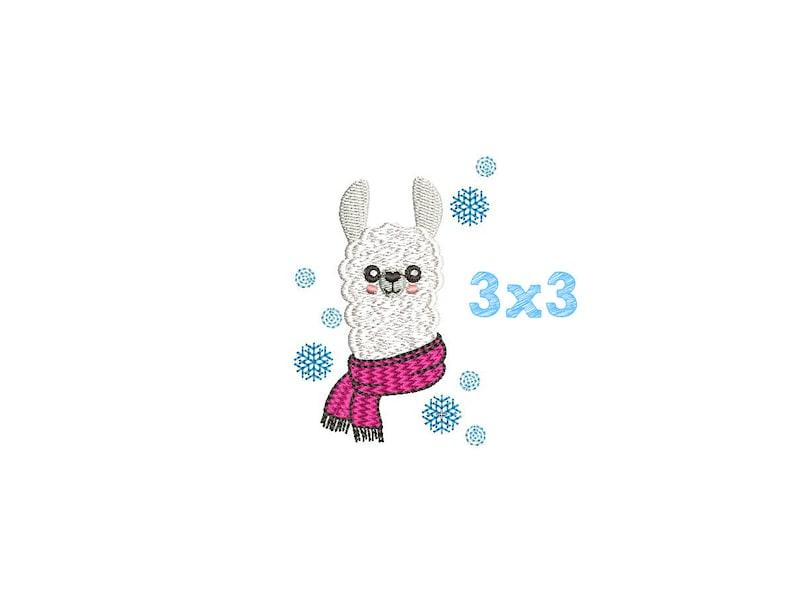 Llama snowflakes machine Embroidery Design animal 3x3 Digitized pattern No Prob Llama SALE embroidery download baby Llama Face Alpaca