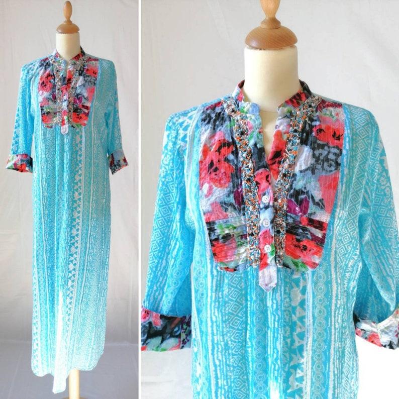 d2f055a8440 Antica Sartoria kaftan dress embroidered dress Positano