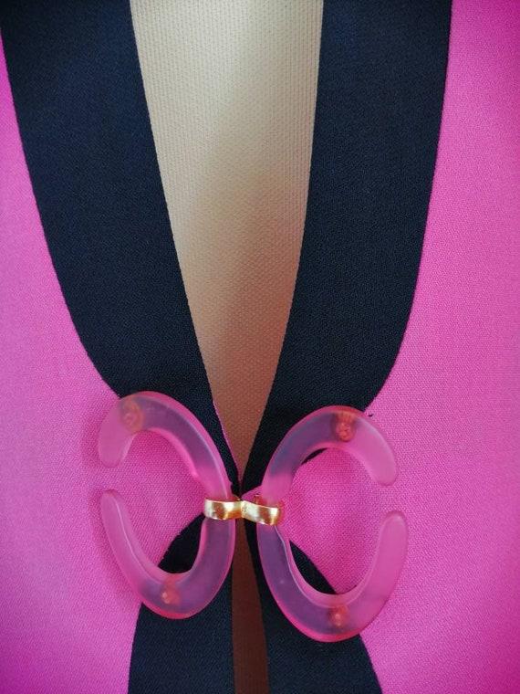 Vintage pink blazer, 80s pink jacket, disco blaze… - image 3