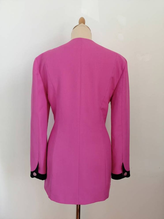 Vintage pink blazer, 80s pink jacket, disco blaze… - image 7
