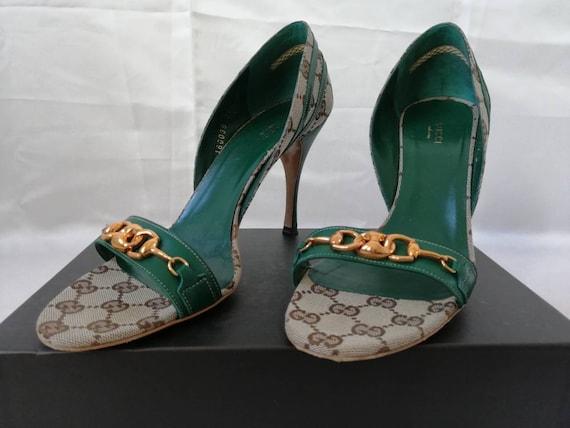 Vintage Gucci shoes, Gucci monogram shoes, Gucci d