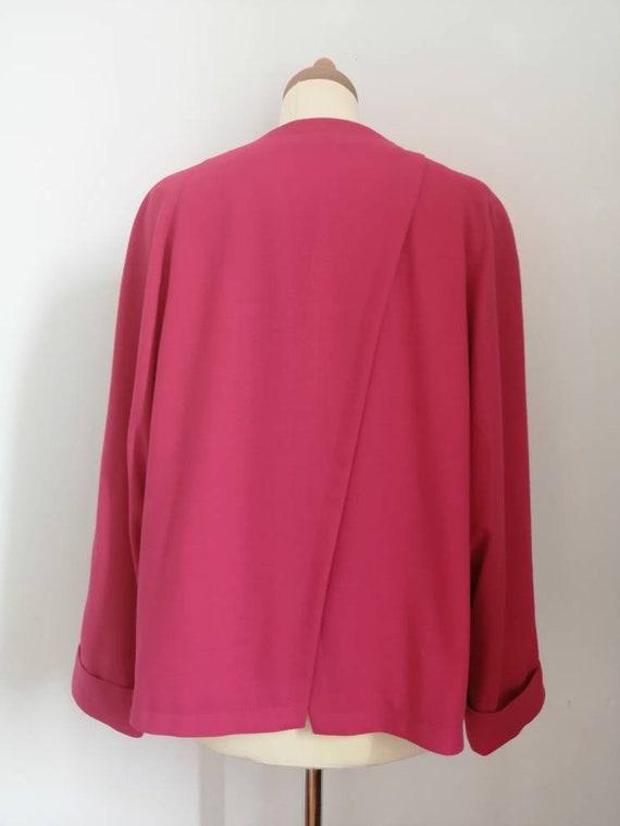 80s blazer, vintage blazer, pink blazer, asymmetr… - image 4
