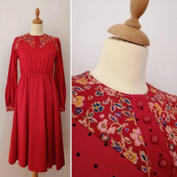 Vintage 70s Fiorucci dress, seventies polka dot dr