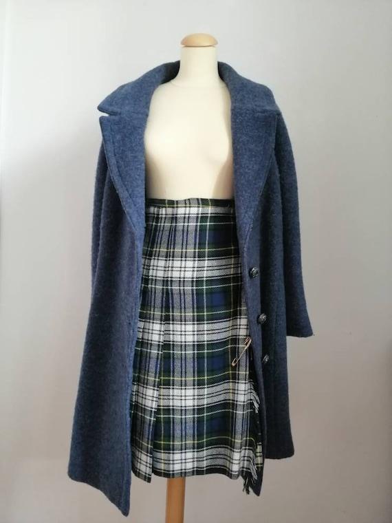 Vintage tartan skirt, 70s kilt, vintage Scottish k