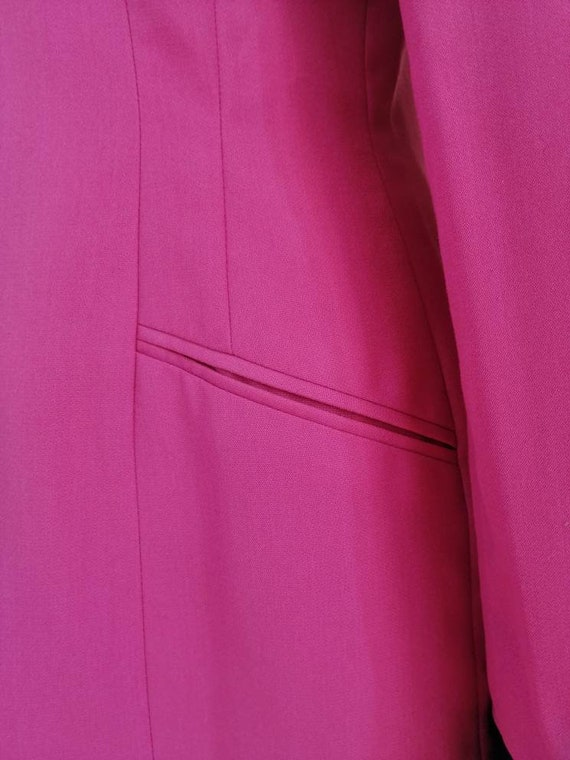 Vintage pink blazer, 80s pink jacket, disco blaze… - image 5