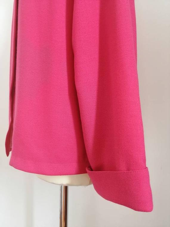 80s blazer, vintage blazer, pink blazer, asymmetr… - image 9