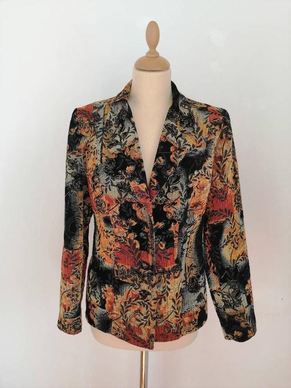 Vintage 70s embroidered blazer, 70s boho blazer, b
