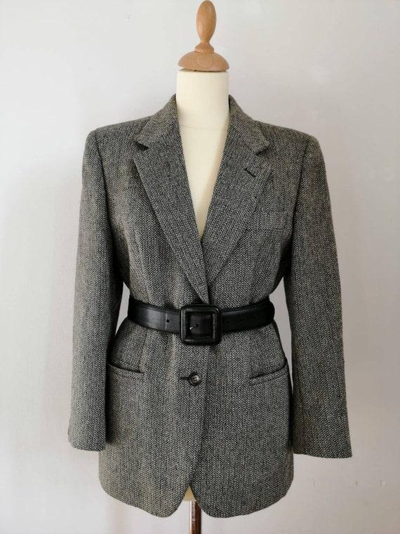 Tweed blazer, Henry Cottons jacket, vintage 90 bla