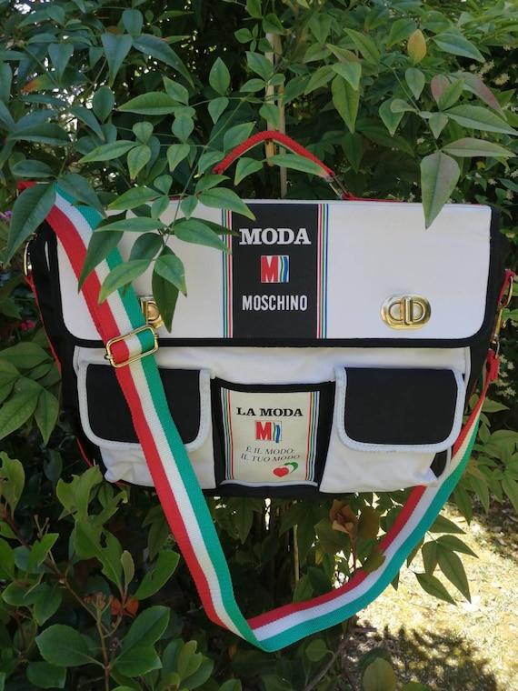 Vintage Moschino messenger bag, Italian flag print
