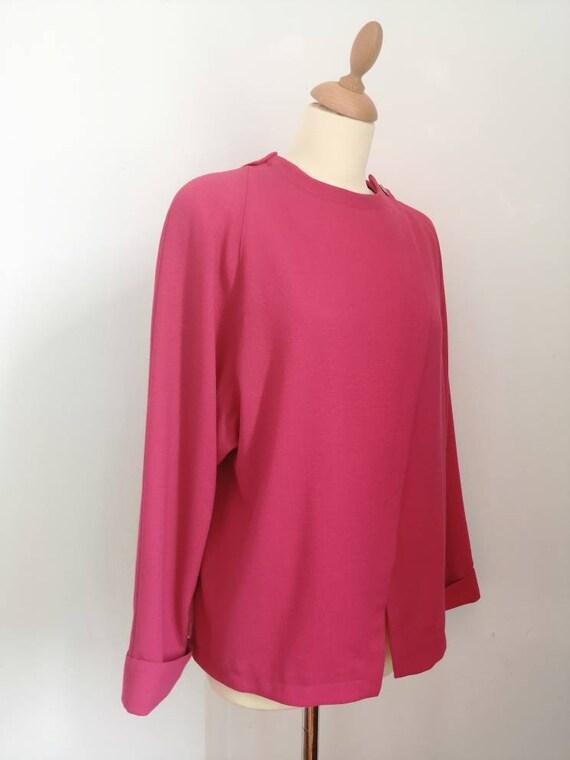 80s blazer, vintage blazer, pink blazer, asymmetr… - image 2