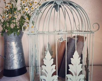 Painted Bird Cage Etsy
