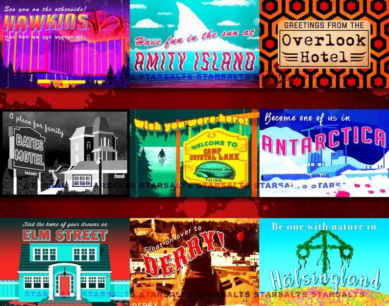 Mix-and-Match Horror Destination Postcards