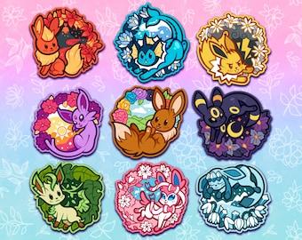Elemental Eeveelution Stickers