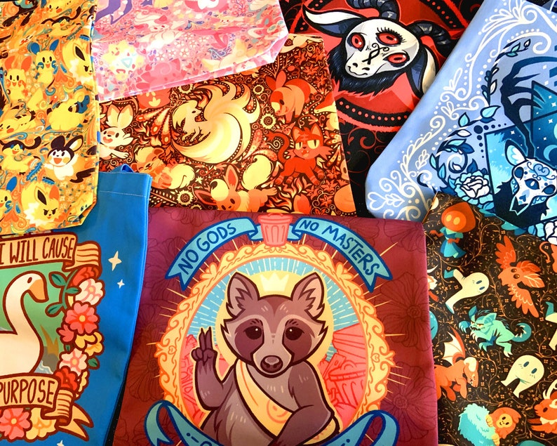 Colorful Cryptids Tote Bag