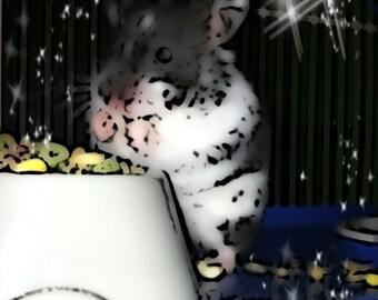 Pepper the Syrian teddy bear hamster digital picture art