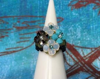 Swarovski crystal ring size 4