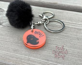 Halloween Key Chain | Ghost Decoration | Backpack Halloween Charm | Handbag Ghost Charm